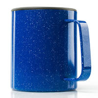 GSI Glacier Stainless Camp Cup 444 ml blue speckle