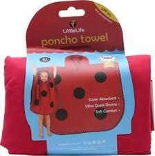 LittleLife Animal Poncho Towel ladybird medium - 1