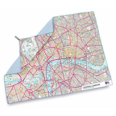 Lifeventure SoftFibre OS Map Towel central London - 1