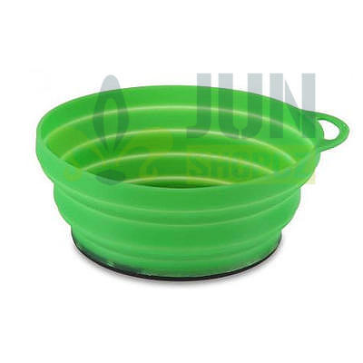 Lifeventure Silicon Ellipse Bowl green - 1