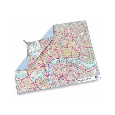 LifeVenture SoftFibrem Advance Map towel London - 2