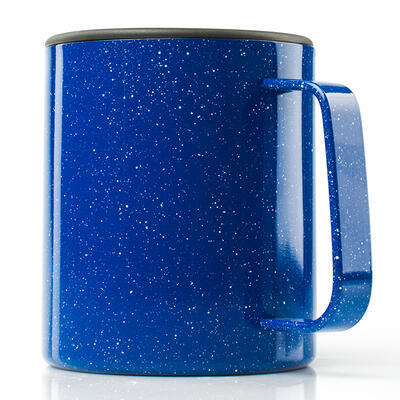 GSI Glacier Stainless Camp Cup 444 ml blue speckle - 2