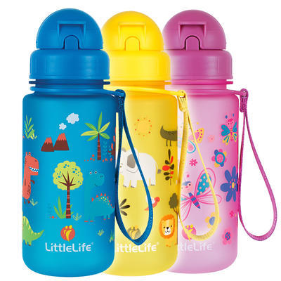 Littlelife water bottle 400 ml butterflies, RŮŽOVÁ - 2