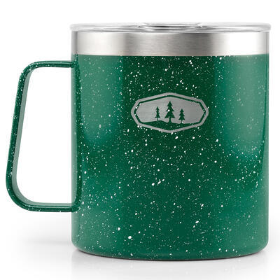 GSI Glacier Stainless Camp Cup 444ml green speckle - 2