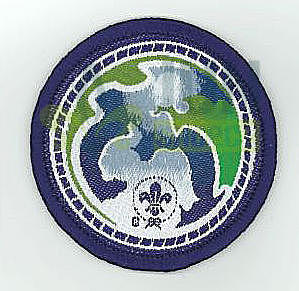 World Scout Environment badge Purple - 2
