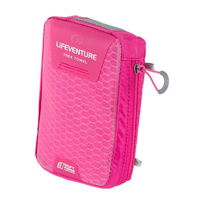 LifeVenture SoftFibre Trek Towel pocket pink - 2