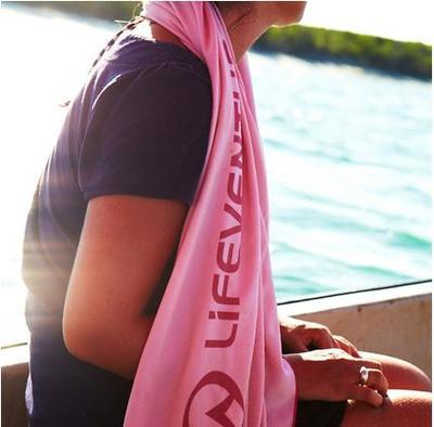 LifeVenture SoftFibre Trek Towel pocket pink - 4