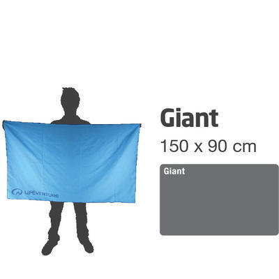 LifeVenture SoftFibre Trek Towel giant blue - 5