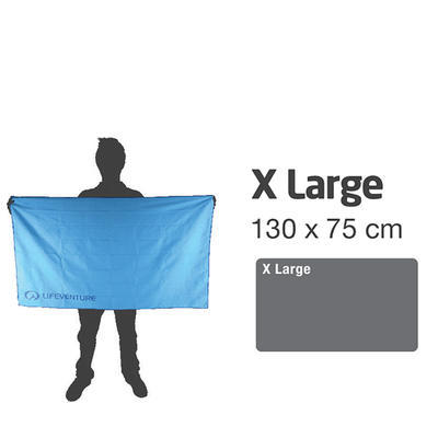 LifeVenture SoftFibre Trek Towel XL blue - 5