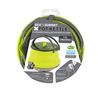 Sea to Summit X-Kettle skládací konvice lime 1,3l - 5